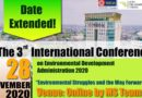The 3rd International Conference on Environmental Development Administration 2020