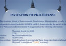 Invitation to Ph.D. defense